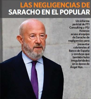 LAS NEGLIGENCIAS DE SARACHO EN EL POPULAR