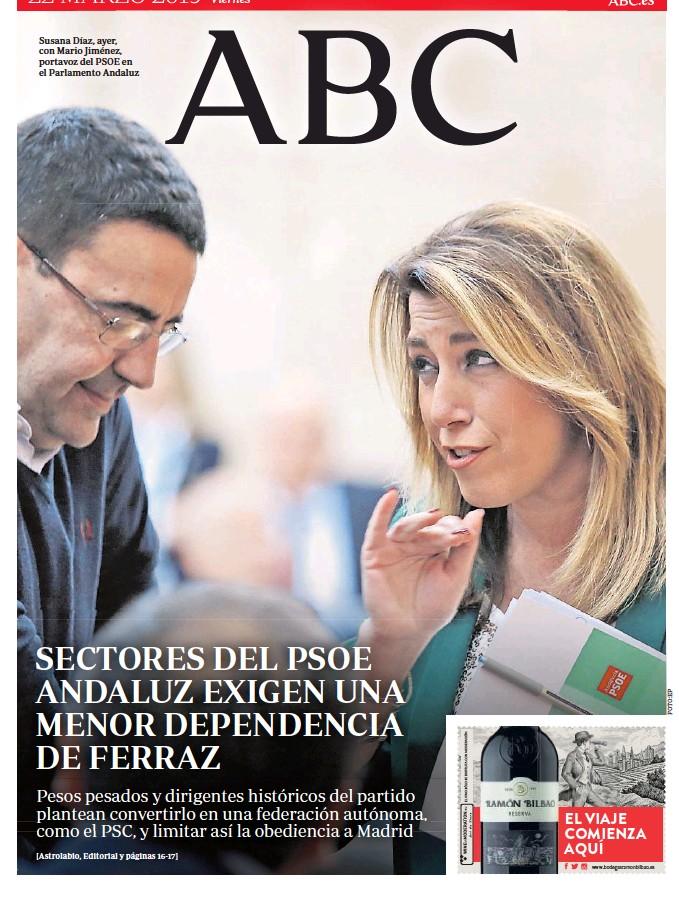 SECTORES DEL PSOE ANDALUZ EXIGEN UNA MENOR DEPENDENCIA DE FERRAZ