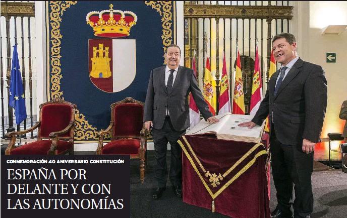 EL PRESIDENTE DE CASTILLA-LA MANCHA DEFIENDE LAS AUTONOMÍAS Y LA NACIÓN: «CASTILLA-LA MANCHA ESTÁ POR DELANTE DE LOS INTERESES POLÍTICOS Y ESPAÑA ESTÁ POR DELANTE DE CASTILLA-LA MANCHA Y DEL RESTO DE COMUNIDADES AUTÓNOMAS»