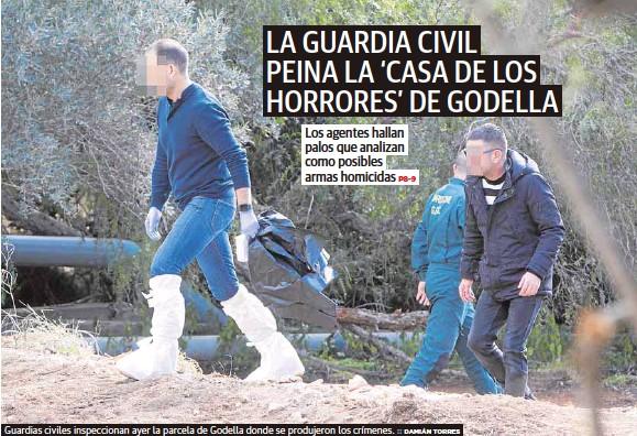 LA GUARDIA CIVIL PEINA LA 'CASA DE LOS HORRORES' DE GODELLA