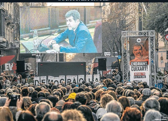 JORDI SÀNCHEZ REFUTA EL RELAT DE LA VIOLÈNCIA