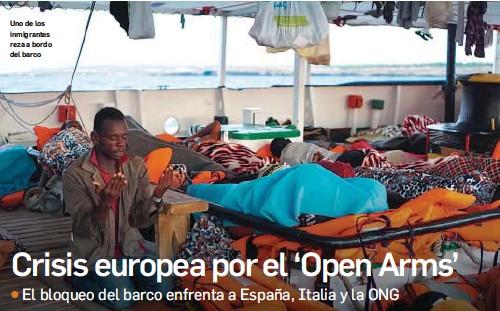 CRISIS EUROPEA POR EL 'OPEN ARMS'