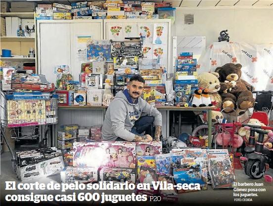 EL CORTE DE PELO SOLIDARIO EN VILA-SECA CONSIGUE CASI 600 JUGUETES