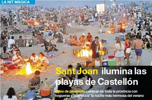 SANT JOAN ILUMINA LAS PLAYAS DE CASTELLÓN