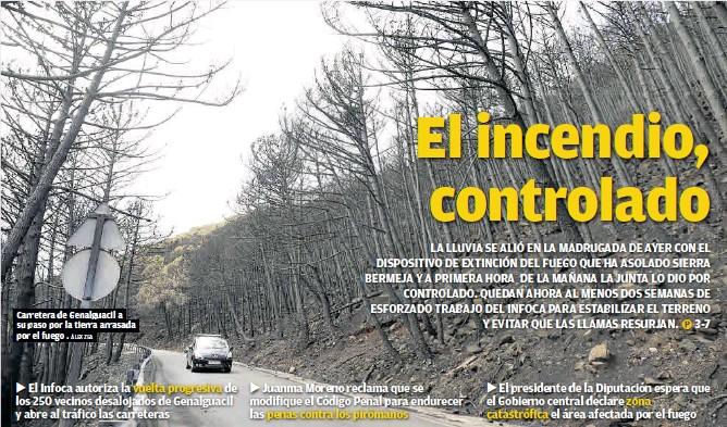 EL INCENDIO, CONTROLADO