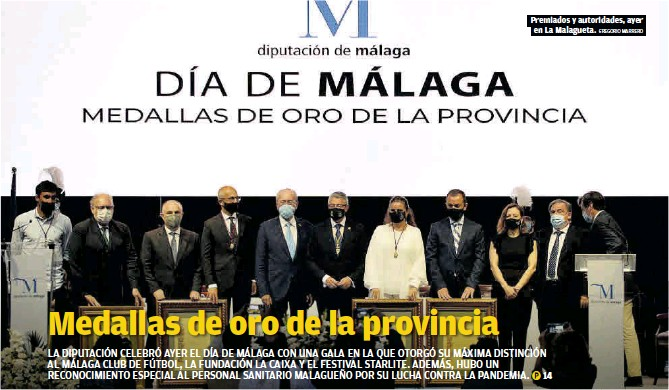 MEDALLAS DE ORO DE LA PROVINCIA