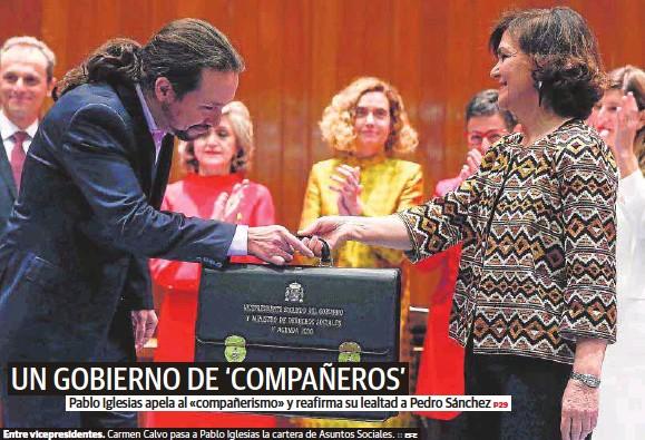 UN GOBIERNO DE 'COMPAÑEROS'