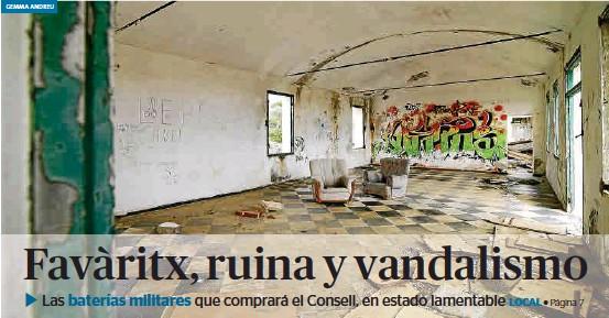 FAVÀRITX, RUINA Y VANDALISMO