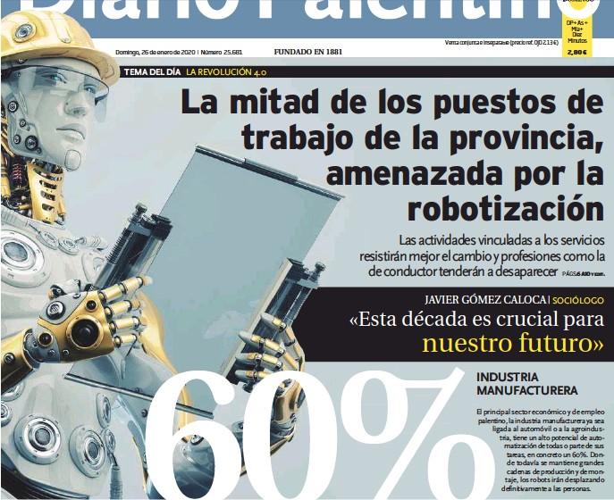 LA MITAD DE LOS PUESTOS DE TRABAJO DE LA PROVINCIA, AMENAZADA POR LA ROBOTIZACIÓN