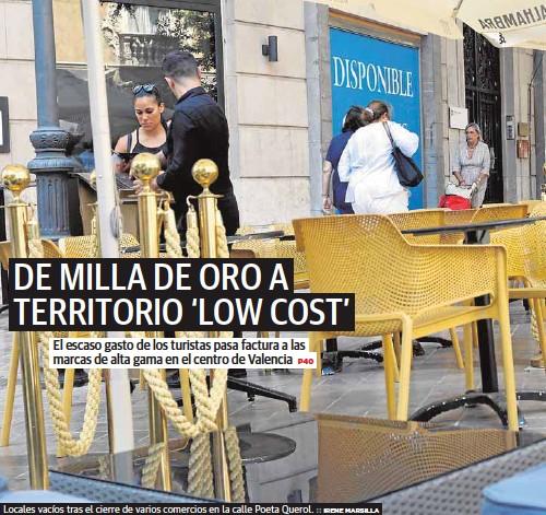 DE MILLA DE ORO A TERRITORIO 'LOW COST'