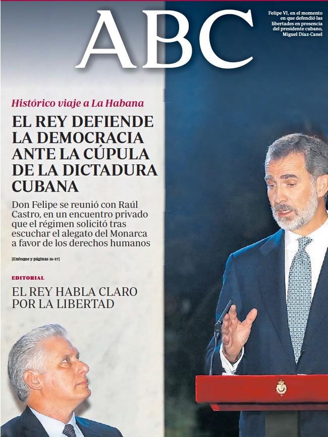 EL REY DEFIENDE LA DEMOCRACIA ANTE LA CÚPULA DE LA DICTADURA CUBANA