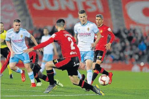 3-0 EL REAL ZARAGOZA SE VE SUPERADO POR EL MALLORCA