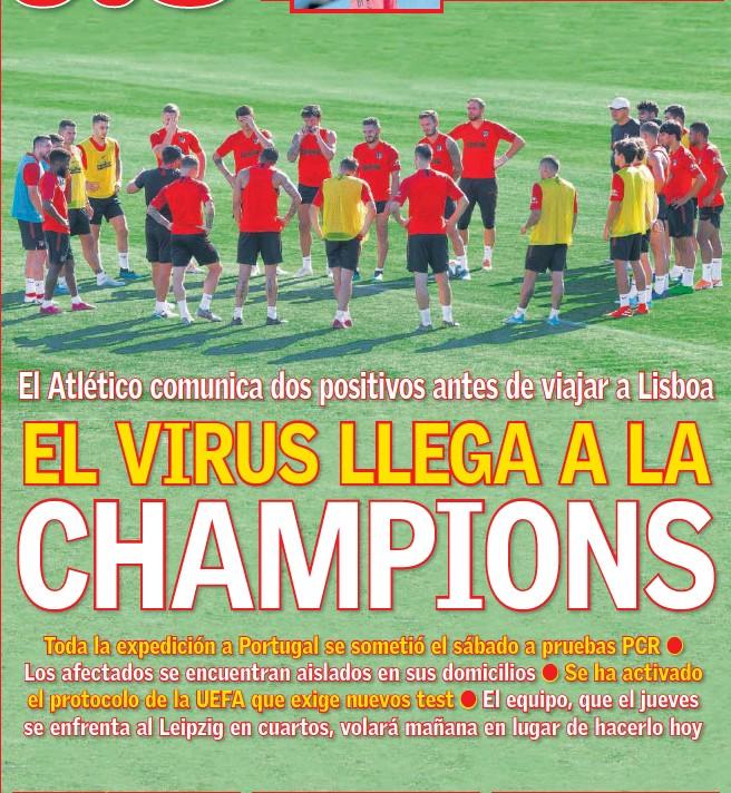 EL VIRUS LLEGA A LA CHAMPIONS