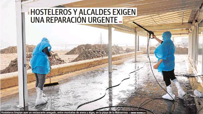 HOSTELEROS Y ALCALDES EXIGEN UNA REPARACIÓN URGENTE