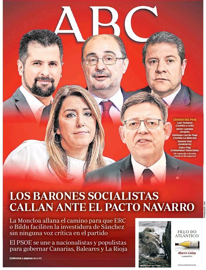 LOS BARONES SOCIALISTAS CALLAN ANTE EL PACTO NAVARRO