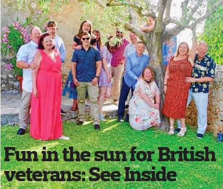 FUN IN THE SUN FOR BRITISH VETERANS: