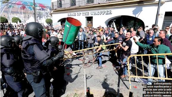 UNA NUEVA PROTESTA DEL CAMPO CONCLUYE CON ALTERCADOS