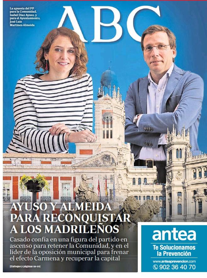 AYUSO Y ALMEIDA PARA RECONQUISTAR A LOS MADRILEÑOS