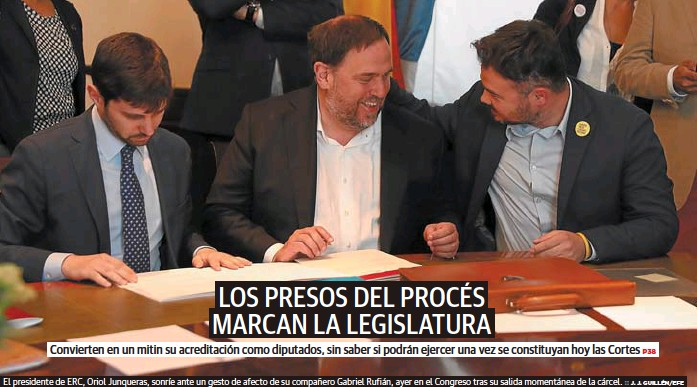 LOS PRESOS DEL PROCÉS MARCAN LA LEGISLATURA