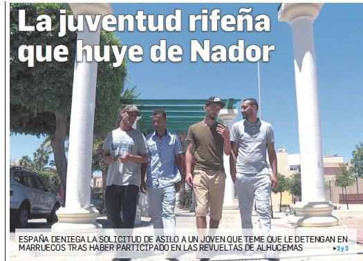 LA JUVENTUD RIFEÑA QUE HUYE DE NADOR
