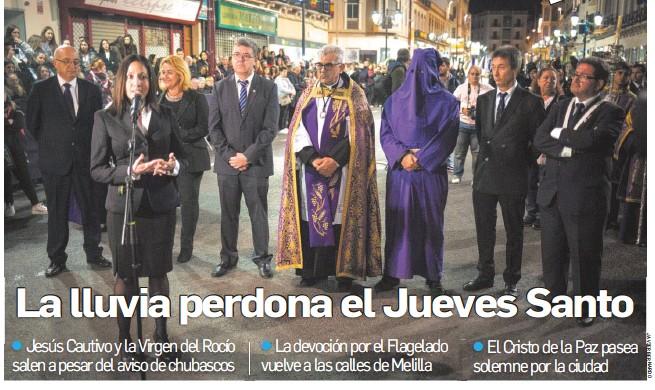LA LLUVIA PERDONA EL JUEVES SANTO
