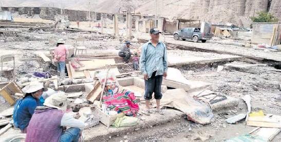 HUAICOS DEJAN 1,500 FAMILIAS DAMNIFICADAS