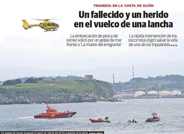 UN FALLECIDO Y UN HERIDO EN EL VUELCO DE UNA LANCHA