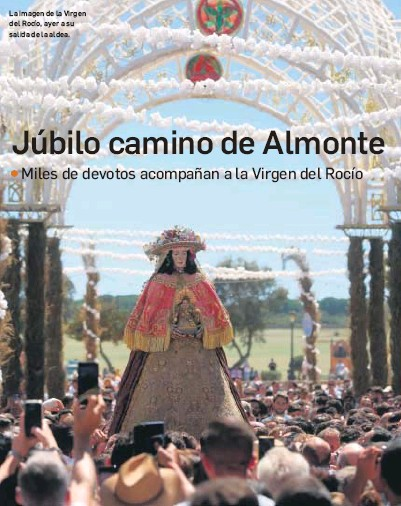 JÚBILO CAMINO DE ALMONTE