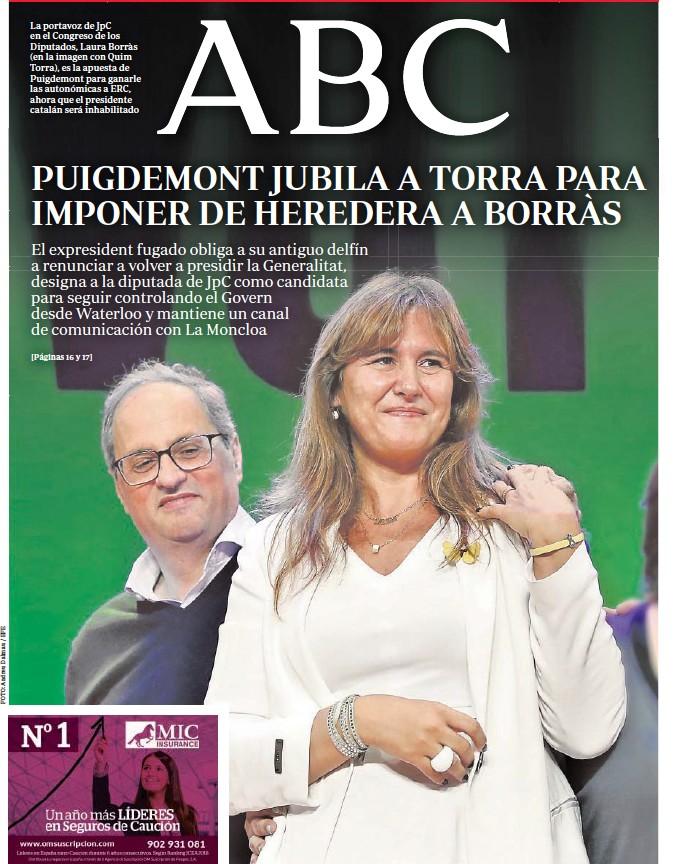PUIGDEMONT JUBILA A TORRA PARA IMPONER DE HEREDERA A BORRÀS