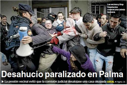 DESAHUCIO PARALIZADO EN PALMA