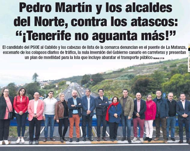 """PEDRO MARTÍN Y LOS ALCALDES DEL NORTE, CONTRA LOS ATASCOS: """"¡TENERIFE NO AGUANTA MÁS!"""""""