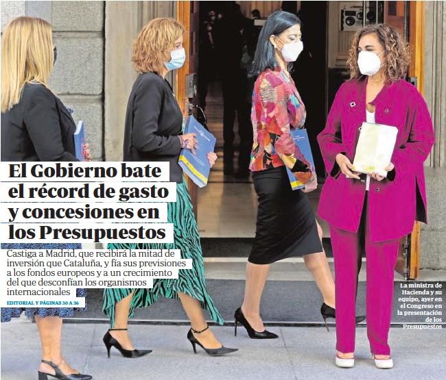 EL GOBIERNO BATE EL RÉCORD DE GASTO Y CONCESIONES EN LOS PRESUPUESTOS
