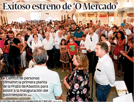 EXITOSO ESTRENO DE 'O MERCADO'