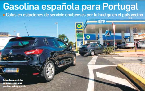 GASOLINA ESPAÑOLA PARA PORTUGAL