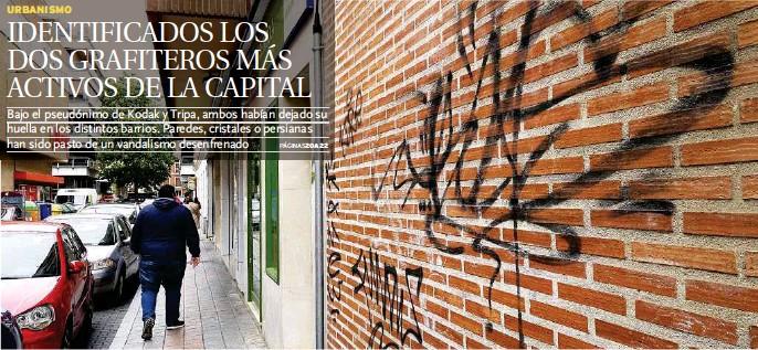 IDENTIFICADOS LOS DOS GRAFITEROS MÁS ACTIVOS DE LA CAPITAL