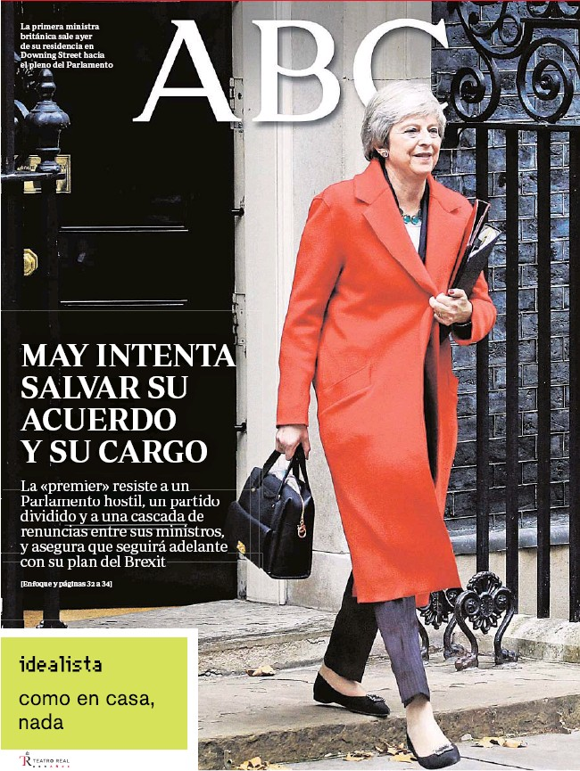 MAY INTENTA SALVAR SU ACUERDO Y SU CARGO