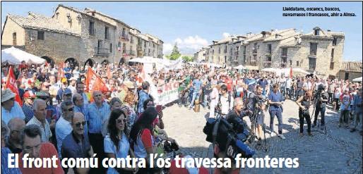 EL FRONT COMÚ CONTRA L'ÓS TRAVESSA FRONTERES