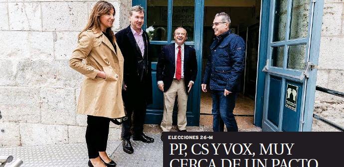 PP, CS Y VOX, MUY CERCA DE UN PACTO
