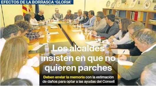 LOS ALCALDES INSISTEN EN QUE NO QUIEREN PARCHES