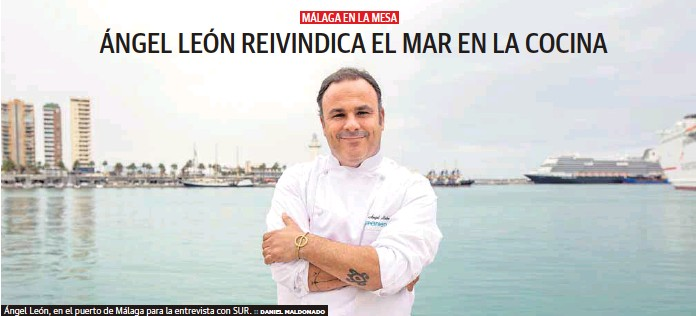 ÁNGEL LEÓN REIVINDICA EL MAR EN LA COCINA