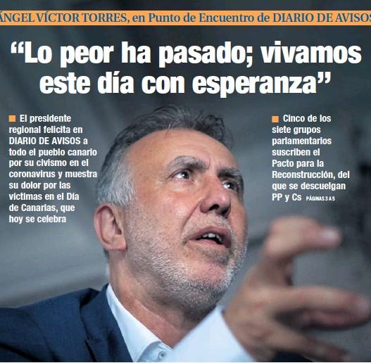 """""""LO PEOR HA PASADO; VIVAMOS ESTE DÍA CON ESPERANZA"""""""