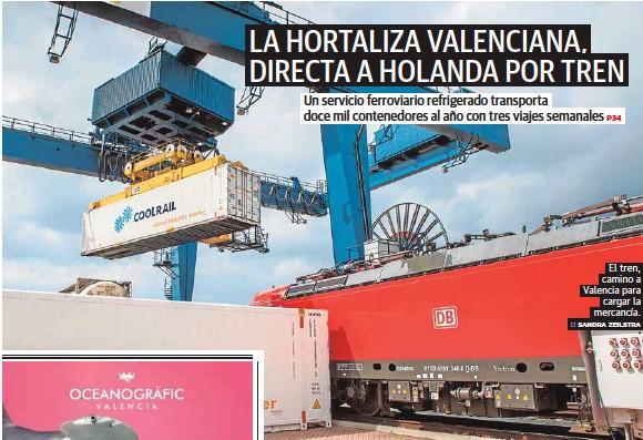 LA HORTALIZA VALENCIANA, DIRECTA A HOLANDA POR TREN