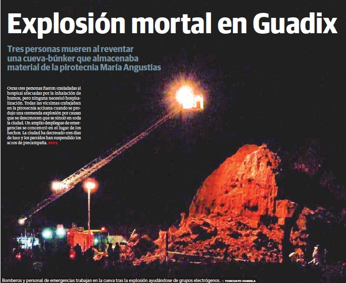 EXPLOSIÓN MORTAL EN GUADIX