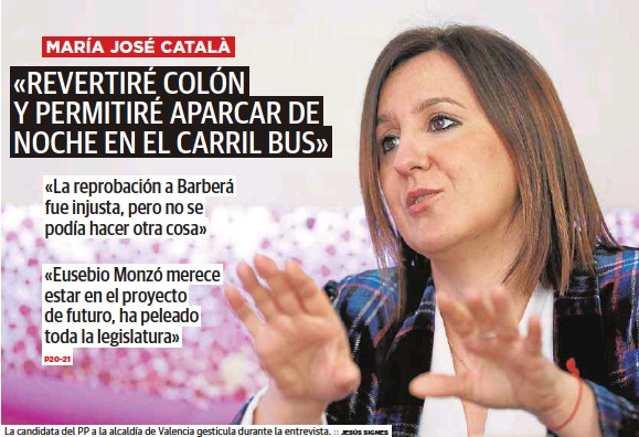 «REVERTIRÉ COLÓN Y PERMITIRÉ APARCAR DE NOCHE EN EL CARRIL BUS»