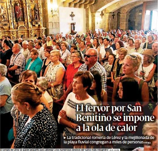 EL FERVOR POR SAN BENITIÑO SE IMPONE A LA OLA DE CALOR