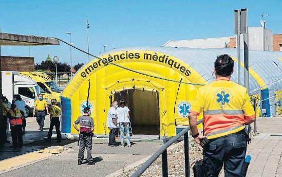 ELS INGRESSOS HOSPITALARIS A CAUSA DE LA COVID-19 ES TRIPLIQUEN A LLEIDA