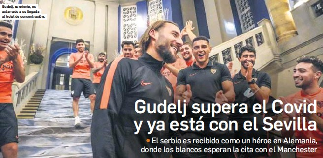 GUDELJ SUPERA EL COVID Y YA ESTÁ CON EL SEVILLA