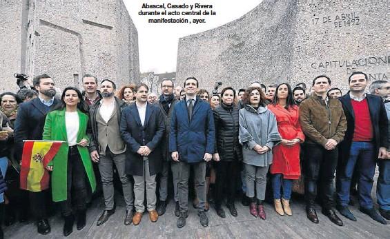LA DERECHA EXHIBE SU UNIDAD FRENTE A SÁNCHEZ
