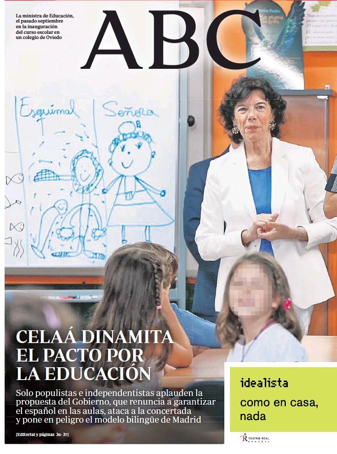 CELAÁ DINAMITA EL PACTO POR LA EDUCACIÓN