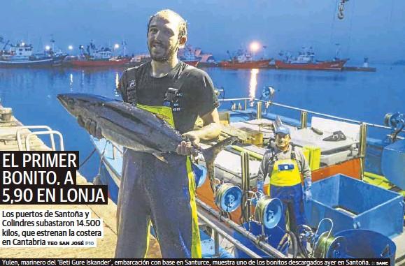 EL PRIMER BONITO, A 5,90 EN LONJA